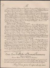 1903 FAIRE-PART DÉCÈS LOUIS TILLETTE de CLERMONT-TONNERRE Cambron Abbeville