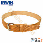 IRWIN 50mm Saddle Leather Rivet Reinforced Work Pouch Tool Belt R-603-L