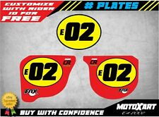 Custom number Plate graphics for Honda CR 125 1978 1979  VINTAGE STYLE stickers