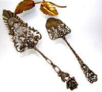 2 antike Tortenheber mit Putten - 835er/800er Silber - Jugendstil - Sehr selten