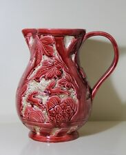 Vintage BESWICK Large JUG In Red Glaze  pattern no 676    9.6inches. high