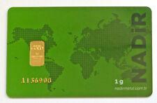 53128645 - 1 g. Goldbarren Feingold 999,9 Nadir