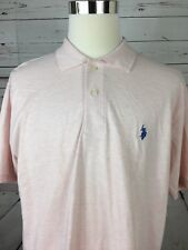 US Polo Assn NWT's Men's XL Pink Charcoal Color Polo Shirt Short Sleeve
