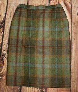 House of Bruar Ladies Tweed Pencil Skirt Knee Length Winter UK 10 100% Wool