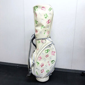 AUTHENTIC FRANCK MULLER Miyakojima Caddy bag golf bag Silver/Multicolore Leather