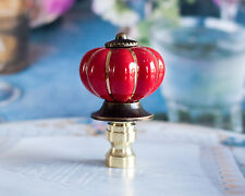 1 of Red Porcelain Lamp Shade Finial, Fit Standard Harp Threads.