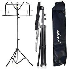 Folding Adjustable Music Stand With Carrying Bag, Portable Metal For 2Day Ship