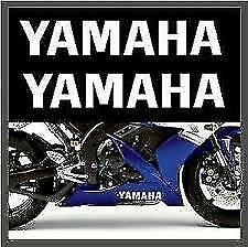Yamaha Belly Pan Stickers 2x 300mm Gloss White YZF R1 TZR  FZR1000