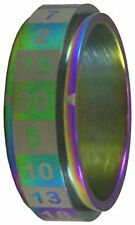 R20 Dice Ring - Size 12 Rainbow CritSuccess GAMING SUPPLY BRAND NEW ABUGames