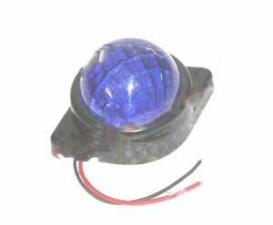Side Indicator Marker & Parking LED Light Blue Lens 12v Universal Fit ECs