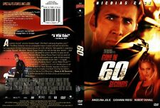 GONE IN 60 SECONDS with Nicolas Cage -  NEW DVD FREE POST mmoetwil@hotmail.com