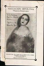 RARE ANTIQUE 1927 DOLORES DEL RIO OLYMPIC AUDITORIUM LOS ANGELES FIESTA PROGRAM