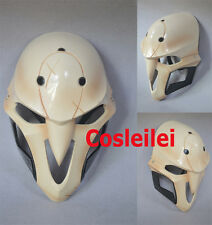 Game Overwatch Reaper Helmet White Cosplay Mask Abs Material 1:1 Mens