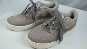 Nike 849345-001 Air Leopard Print Grey Suede Trainers Casual Shoes UK 5.5 E 38.5