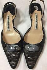 Womens Manolo Blahnik Slingback kitten Heels Shoes Size 5.5