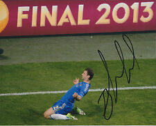 Branislav IVANOVIC Signed Autograph Photo AFTAL COA 2013 EUROPA Goal Celebration