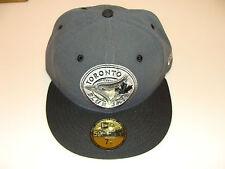 2012 Logo New Era Toronto Blue Jays 59fifty 7 1/4 Cap Hat MLB Custom Grey Circle