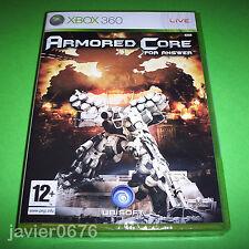 ARMORED CORE FOR ANSWER NUEVO Y PRECINTADO PAL ESPAÑA XBOX 360