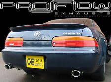 TOYOTA SOARER STAINLESS STEEL CUSTOM BUILT EXHAUST BACK BOX & DUAL TAIL PIPES