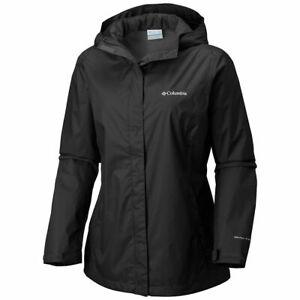Columbia Womens Black Arcadia Omni-Tech Waterproof Windbreaker Coat Size M $79