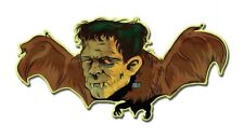 SMALL Vintage 50's Style Metal Sign Monster Bat Halloween Horror Creepy Art