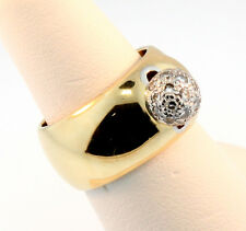 Tiffany & Co. 10mm Diamond Ball Gold Band Ring Size 6.25 Can be Resized
