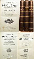 ROMANTISME/DE GUERIN/MAURICE ET EUGENIE/LETTRES/TREBUTIEN/1880/TARN/ALBI