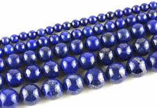 Natural Lapis Lazuli Round Loose Spacer Stone Beads 4/6/8/10/12mm Europ Jewelry