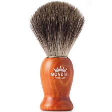 Mondial Pure Grey Badger Shaving Brush Wood