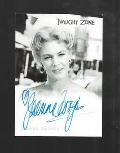 Twilight Zone 4 Science & Superstition 2005 autograph card Jeanne Cooper