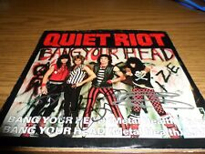 Quiet Riot Signed/Autographed 45 Vinyl By Entire Band Bang Your Head