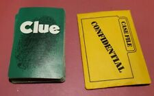Clue Board Game 1996  Replacement Pieces 21 Cards & Confidential 1972-1998