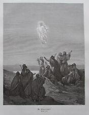 Die Himmelfahrt von Gustave Dore - Holzstich-Tafel aus ca. 1870