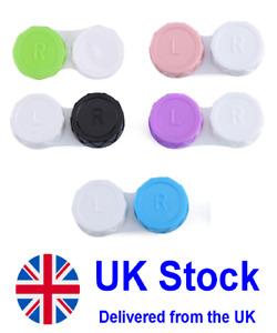 5 x Contact Lens Case Care Multicolored, Colored Double Box