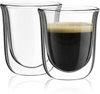 JoyJolt Javaah Double Wall Insulated Glasses, 2 Ounce Set of 2 Espresso Cups