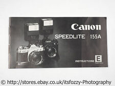 Canon Speedlight 155A Instruction Booklet