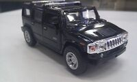 2008 Hummer H2 SUV black kinsmart TOY model 1/40 scale diecast Car present gift