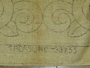 """Vintage HEIRLOOM RUGS Prov. RI Hooked Rug Pattern BURLAP """"Treasure"""" 33x55"""