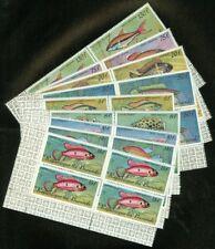 EDW1949SELL : BURUNDI 1967 Scott #C46-54 Fish. Blocks of 4. VF MNH. Catalog $156