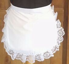 GIRLS WHITE APRON WHITE  WAIST  LACE VICTORIAN EDWARDIAN MAID  fancydress