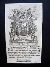 Kupferstich um 1720 -  S. GERTRUDIS   engraving, holy card, santino