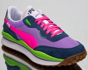 Puma Style Rider Play On Men's Dark Denim Luminous Purple Lifestyle Sneakers