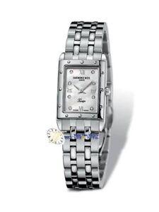 Raymond Weil Women's 5971-ST Tango Rectangular Steel 8 Diamonds Watch