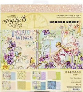 "Graphic 45 Double-Sided Paper Pad 8""X8"" 24/Pkg-Fairie Wings"