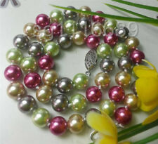 Charming Fashion 8mm multicolor Ocean Sea Shell Pearl Necklace 18 ""