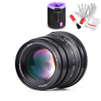 Zonlai 50mm f1.4 Large Aperture Mirrorless Manual Lens F Canon EOS-M mount+Pouch