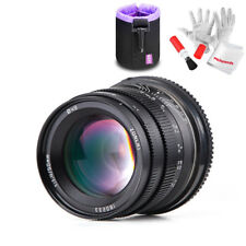 Zonlai 50mm F1.4 Larger Aperture Wide Angle APS-C Fixed Canon EOS-M Lens+ Gift