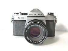 Asahi Pentax K1000 SMC Pentax M 50mm f2 working meter