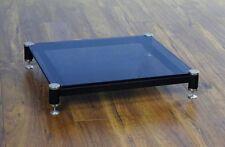 Beautiful VTI BLG404SB-01 Audio Black Tinted Glass Amp Stand, Brand NEW