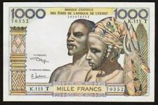 1000 FRANCS 1959-1965 AFRIQUE DE L'OUEST (T. TOGO) WEST AFRICAN STATES P803Tk